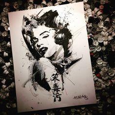 Kenlar - ανάμιξη ρεαλισμου με γραφικά στοιχεία στο τατουάζ - Sake Tattoo Crew