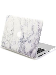 Gmyle Hard Shell Case Cover for 13-Inch MacBook Pro - Frosted White Marble Pattern ❤ GMYLE