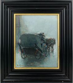 Moreno Ortega - Óleo sobre lienzo - Coche de caballos