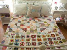 Granny square blamket and hst quilt.