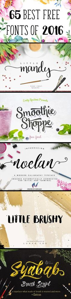 65 Best Free Fonts of 2016 2016 has been a fabulous year for free fonts! And to make sure you didn't miss any of my favorites, I've rounded up all I could find here for your convenience! With all these beauties all in one place, my mind could only wander and think of what 2017 has...Read More »