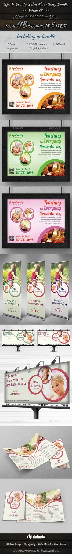 Spa & Beauty Salon Advertising Bundle | Volume 8
