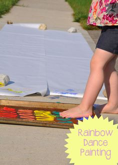 Rainbow Dance Painting : Preschool and Toddler Music and Movement Activity