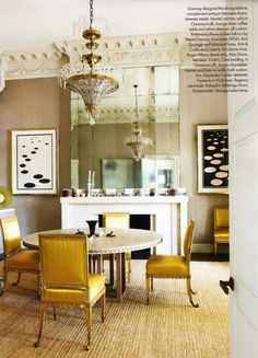 Gold and warm beige with a chef's white accent.  Want to try this.