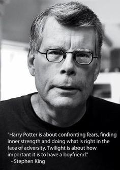 Wise words from Stephen King…