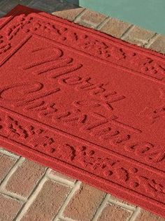 Create a festive atmosphere from the very first step this holiday season with the Merry Christmas WATER & DIRT SHIELD™ Mat that efficiently removes dirt and moisture from paws and shoes.
