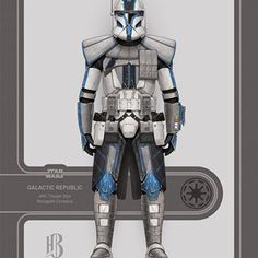 Star Wars Clone Wars, Star Wars Art, Guerra Dos Clones, Star Wars Timeline, 501st Legion, Star Wars Concept Art, Star Wars Images, Character Base, Clone Trooper