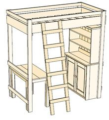 diy loft bed plans free free loft bed queen diy woodworking plans ideas ebook pdf diy furniture pinterest - Free Loft Bed With Desk Plans