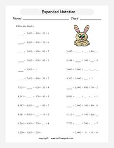 Ordering Numbers to 10,000, third grade math place value