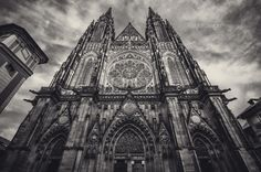 St Vitus Cathedral by Raghunath Rajaram on 500px  Gothic architecture in B&W