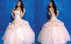 Allure ball gown sleeveless Floor-length light pink Quinceanera Gown Q174