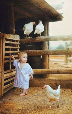 Such a good life you'll have, little one, growing up on a farm