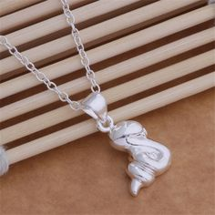 AN029 Hot wholesale silver plated Necklace,free shipping silver fashion jewelry pendant Small snake /aqzajiga