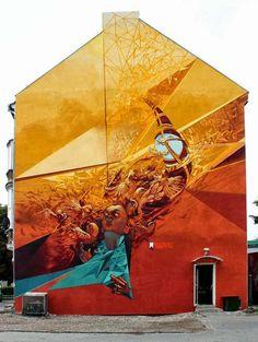 Street art in Poland by Bezt, Pener, Sainer & Tone of Etam Cru