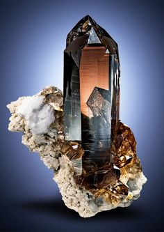Smoky Quartz | #Geology #GeologyPage #Mineral Locality: Zinggenstock Grimsel area Hasli valley Berner Oberland Switzerland Geology Page www.geologypage.com