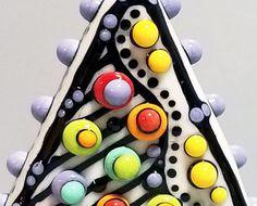 Mod Spot Pop Dot Triangle Focal Handmade by BeadygirlBeads on Etsy