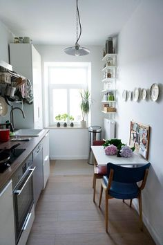 Small kitchen with great solutions