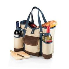 Shop now Wine Country Tote by Picnic Time. Complete with wine & cheese accessories. Carries your wine & picnic essentials in style. Perfect gift for picnic lovers. Picnic Set, Picnic Time, Picnic Ideas, Picnic Backpack, Wine Tote Bag, Brown Trim, Wine Cheese, 50th Birthday Gifts, Fiftieth Birthday