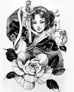 Geisha Tattoos, Irezumi Tattoos, Geisha Tattoo Design, Geisha Tattoo Sleeve, Irezumi Sleeve, Japan Tattoo Design, Marquesan Tattoos, Japanese Tattoo Art, Japanese Tattoo Designs