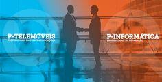 P-Telemóveis e P-Informática - Comércio e Reparação #one #onetofour #design #rebranding #ptelemoveis #pinformatica