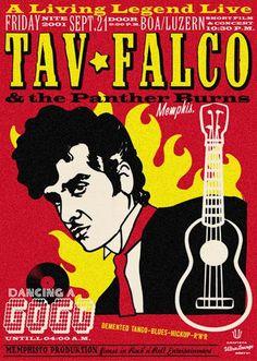Tav Falco Gig Poster