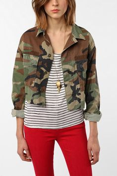 camo structured jacket womens cropped