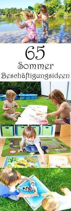 65 Sommer Beschäftigungsideen für Kinder - in den Ferien Kinder beschäftigen - für drinnen und für draußen