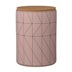 Bloomingville Ceramic Carina Jar with Cork Lid, Nude/Black Lid Storage, Storage Ideas, Ceramic Jars, Kitchen Canisters, My Glass, Danish Design, Organizer, Cork, Creative
