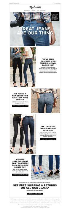 Denim. #emailmarketing #fashion #newsletter