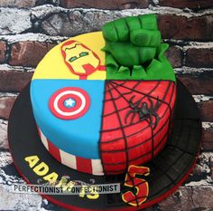 The Avengers Birthday Cake.  The Perfectionist Confectionist, Dublin.