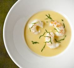 Langoustineroomsoep met cognac en peterselie - Weekend Knack