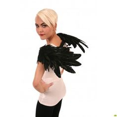 Crow Feather Wings - Black