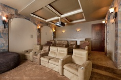 Theater Room......Movie Anyone?    by Stone Custom Homes & Remodeling