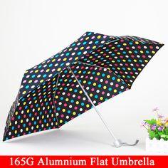 Masculino Female165G Travele Compacto de tres Plegable Lluvia luz De Aluminio paraguas Rojo Amarillo Mujeres de Los Hombres de alta calidad de la manera barata