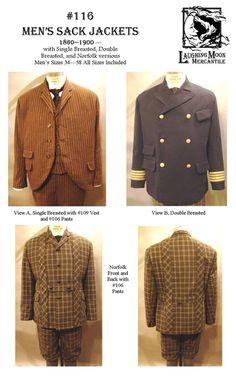 Mens Sack Jackets 1850-1900