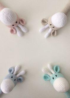 Riikka Was here: Kirahvi helistin Knit Crochet, Knitting, Pattern, Fun, Kids, Baby, Crocheting, Tejidos, Needlepoint