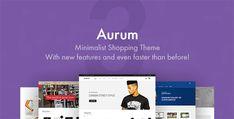 Aurum - Minimalist Shopping Theme Tema Wordpress, Premium Wordpress Themes, Wordpress Free, Web Design, Design Blog, Website Design Inspiration, Fontes Do Google, Cool Themes