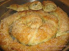 Greek Recipes, Desert Recipes, Cookbook Recipes, Cooking Recipes, Food Network Recipes, Food Processor Recipes, Greek Bread, Greek Pita, Cyprus Food