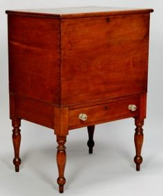 Lot 72: Middle TN Cherry Sugar Chest - Image 1 to bid online, view our catalog at http://www.liveauctioneers.com/catalog/49503_winter-fine-art-and-antiques-auction/page4?rows=20
