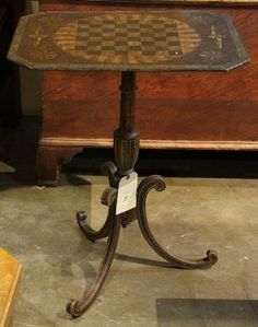 Victorian Faux Grain Painted Games Table, Having A