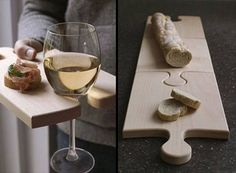 Clever!    Cutting board & Cocktail plate  #cultivateit