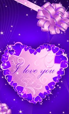 Heart Wallpaper, Purple Wallpaper, Blue Wallpapers, Love Wallpaper, Wallpaper Backgrounds, Wallpaper Ideas, Iphone Wallpapers, Hello Kitty Images, Purple Candy