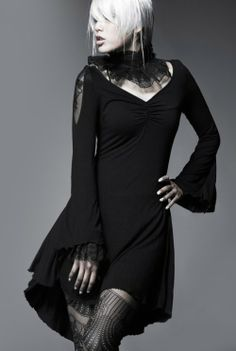 Punk Rave // Black Butterfly Dress