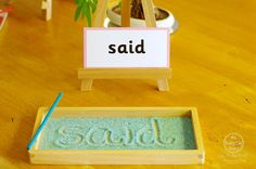 Early Literacy Activities for Kids - An Everyday Story (buy: sight word cards and sand-writing-materials)