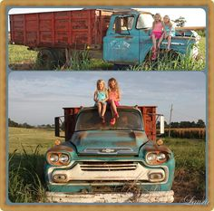 party pics on a vintage truck!