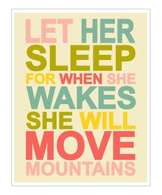 Blue & Fuchsia 'Let Her Sleep' Giclée Print | Daily deals for moms, babies and kids