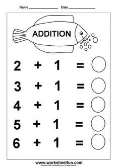 Printable Adding Worksheets | Kindergarten Addition Worksheet - Free ...