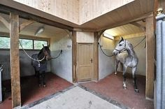 Like the idea with the tack room in the corner and ready stalls beside