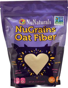 NuNaturals NuGrains Oat Fiber -- 1 lb - Vitacost