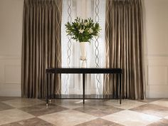 Geometric Patterns    Instead of sticking with solid fabrics, look for ones in creative patterns. 'In more contemporary and transitional interiors the use of large-scaled, geometric-patterned draperies creates a dramatic focal point within the space,' says designer Lori Gilder.